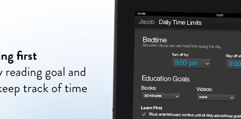 Amazon Kindle FreeTime upgrade adds educational goals