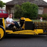 Life-size Lego car is powered by air and can go 17 mph