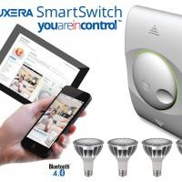 Luxera SmartSwitch LED lighting kit includes bulbs and a dimmer control