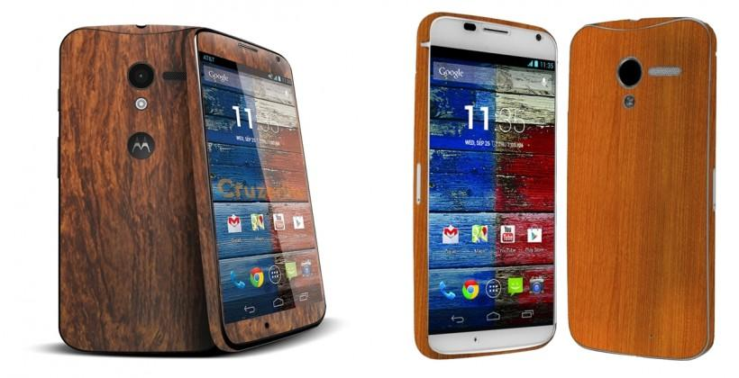 Motorola Mobility indicates wood backing option for Moto X is nigh
