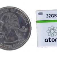 Mushkin Atom flash drive packs 32GB into the space of a quarter