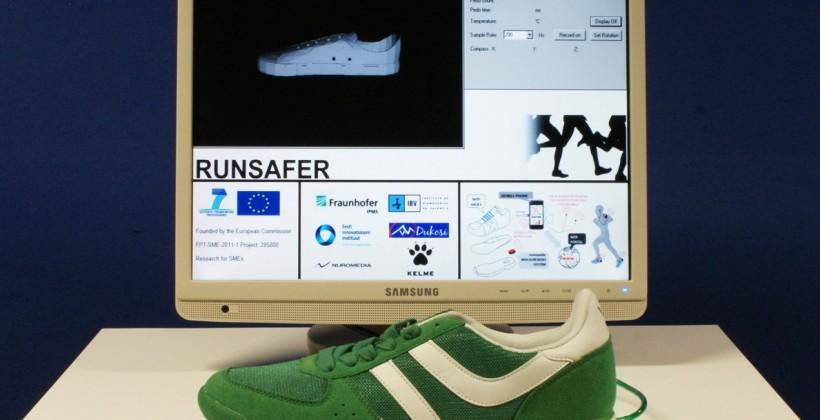 RUNSAFER smart shoes to track running health wirelessly