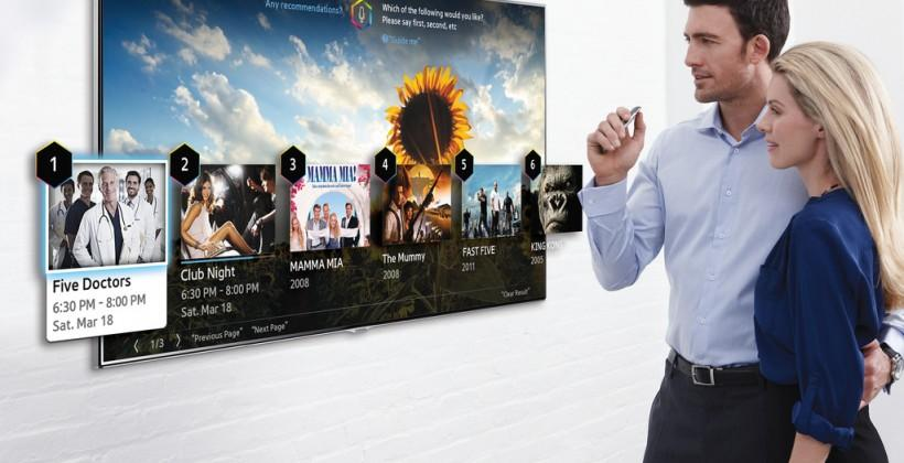 "Samsung Smart TVs to accept ""finger gestures"" for 2014"