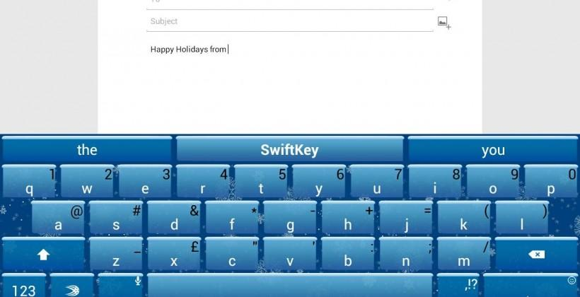 SwiftKey keyboard for Android update turns wintery, kills bugs