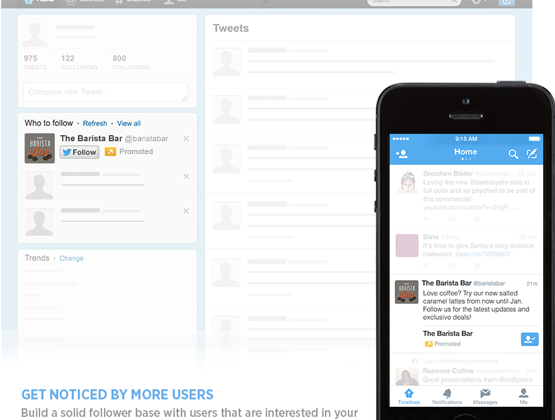 """Twitter """"Promoted"""" account tweets to appear in mobile timelines"""