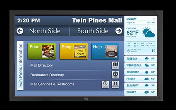 NEC V423-TM 42-inch LED touchscreen display uses optical-imaging touch tech