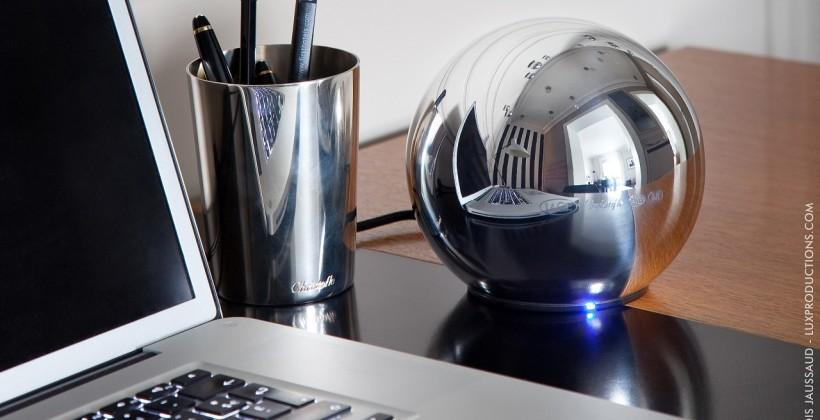 LaCie Sphere handcrafted hard drive boasts design by Christofle