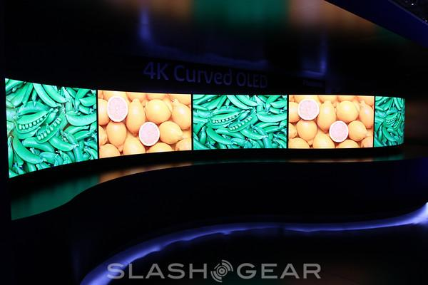Panasonic OLED 4K TVs, curved in more ways than one