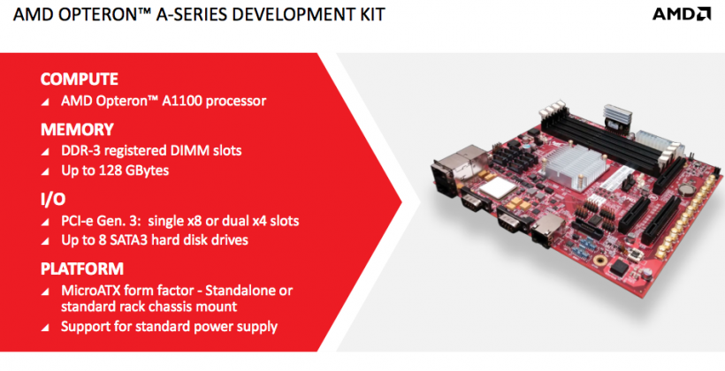 AMD unveils 64-bit octa-core Opteron A1100 ARM chip for servers