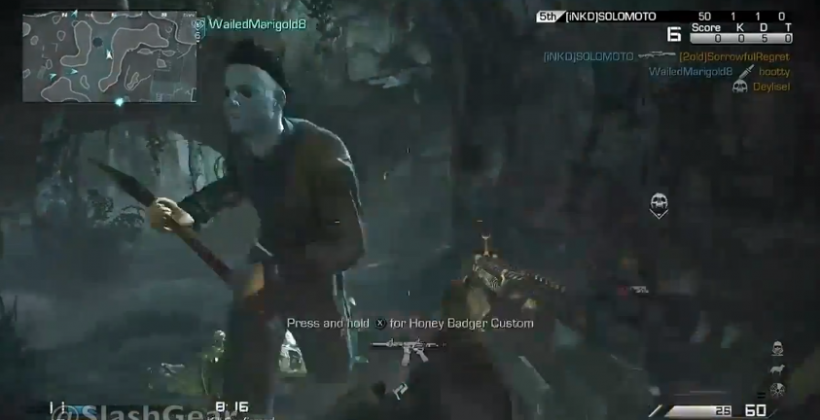 Michael Myers hits COD: Ghosts Onslaught with a sign from the future