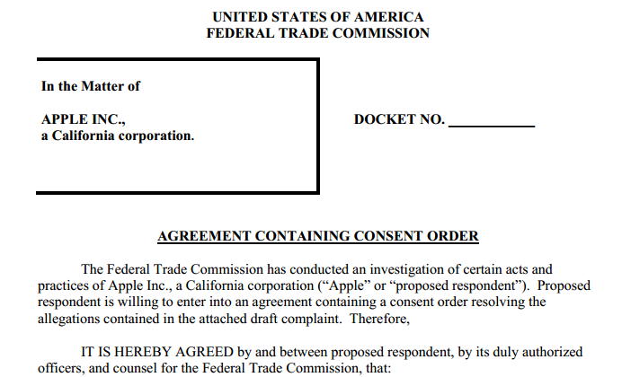 Apple's remaining FTC in-app purchase penalty goes to… the FTC