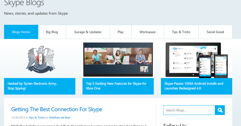 Syrian Electronic Army hacks Skype's blog, Twitter, Facebook [UPDATE]