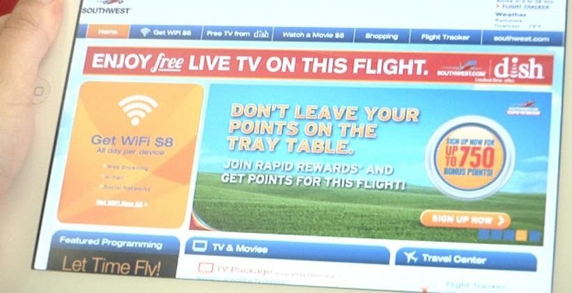 Dish Network and Southwest Airlines extend TV Flies Free program for iOS and Android devices