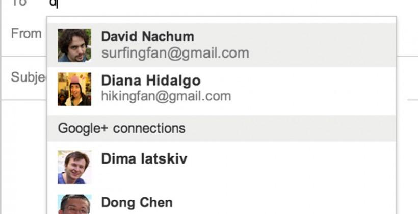 Gmail now allows direct emailing of Google+ contacts