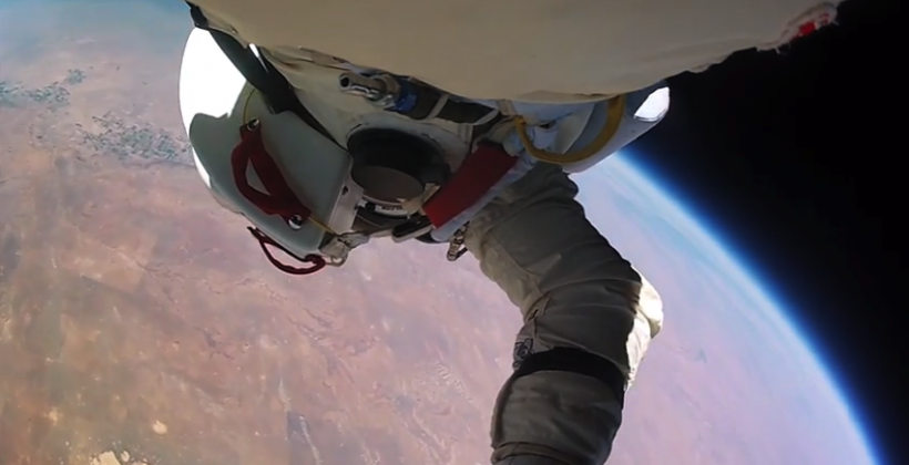 Baumgartner supersonic jump footage rebooted for GoPro's Super Bowl