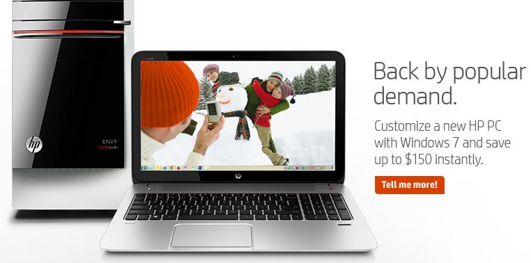 "HP resurrects Windows 7 PCs ""by popular demand"""