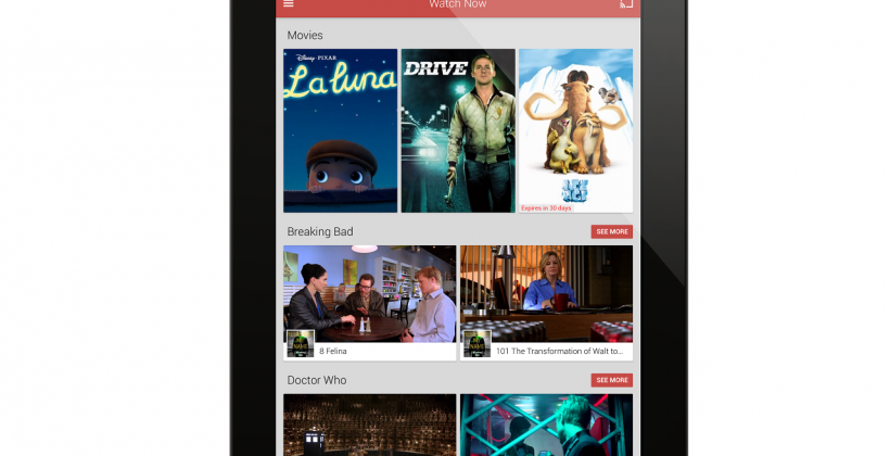 Google Play Movies & TV for iOS launches in App Store