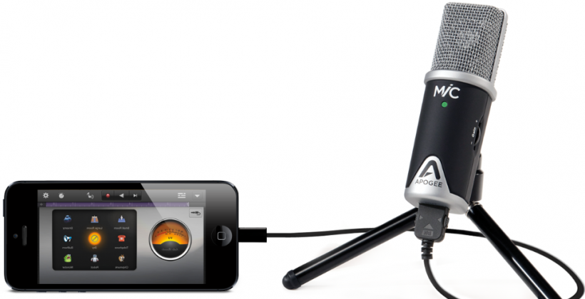 Apogee MiC 96k is a professional microphone for iPad and iPhone