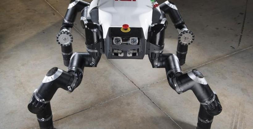 RoboSimian is the NASA JPL entry for the DARPA Robotics Challenge