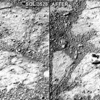 Mars rock appears out of seemingly nowhere in Opportunity rover image