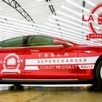 Tesla Coast to Coast Supercharger rally races for a Guinness world record