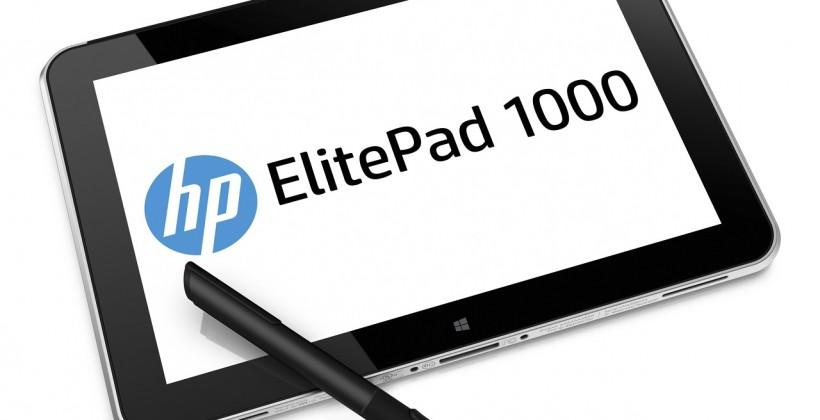 HP ElitePad 1000 G2 64-bit business tablet arrives next month