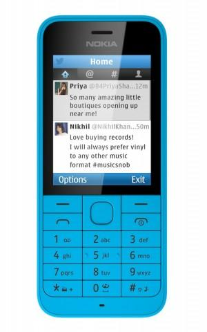 Nokia 220 Front Blue Twitter