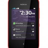 Nokia Asha 230 Dual SIM Red Front Lock Screen