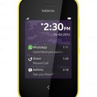 Nokia Asha 230 Yellow Front Lock Screen