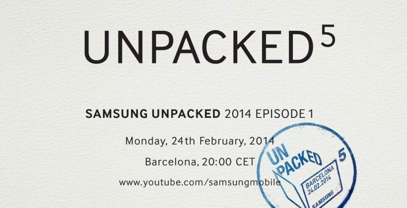 Samsung Unpacked 5 could see Galaxy S5 open MWC 2014