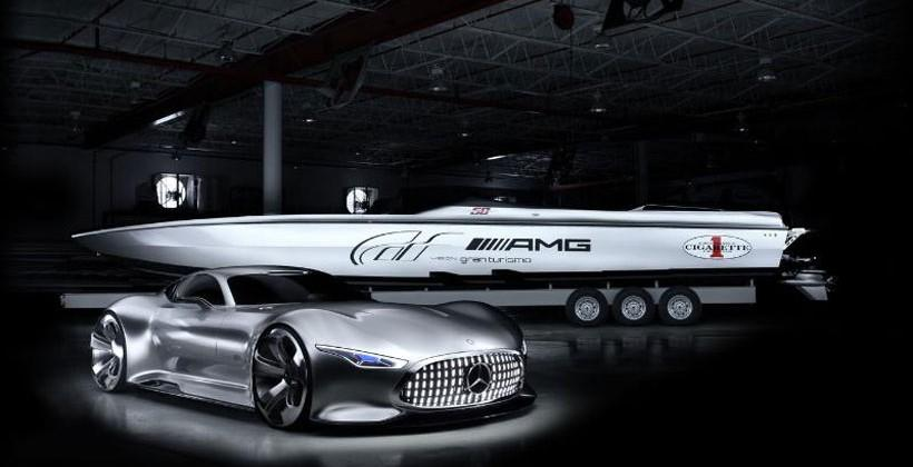 Mercedes AMG Vision Gran Turismo and Cigarette Racing Vision GT Concepts shown in Miami