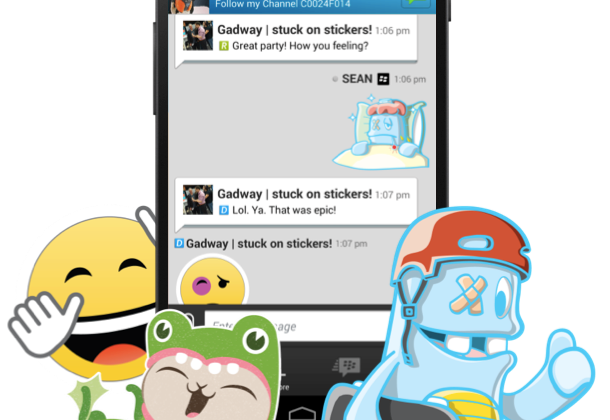 BBM Stickers added as BlackBerry tries for IM teen favor
