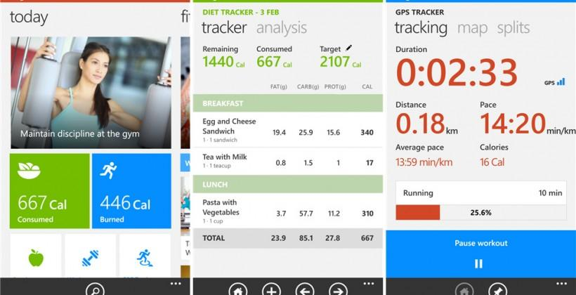 Windows Phone Bing Fitness, Food, and Travel apps launch with PC sync