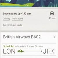Google Now boosts airport cards for more intelligent travel