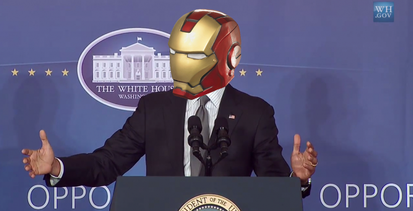 "Obama: ""we're building Iron Man"" (and here's how)"
