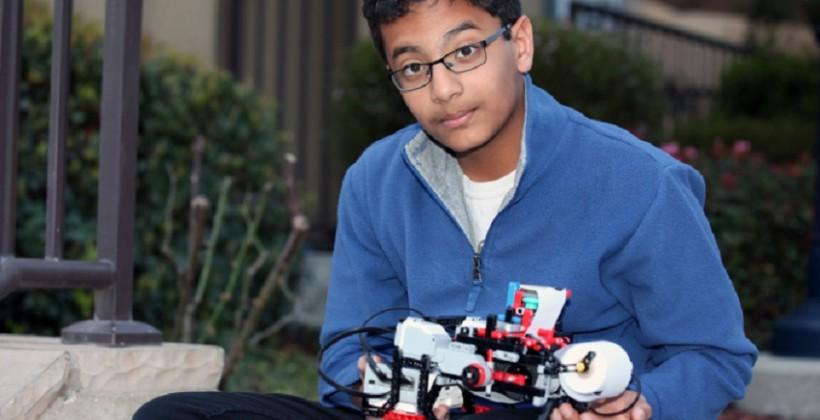 12-year-old develops inexpensive braille printer from LEGOs