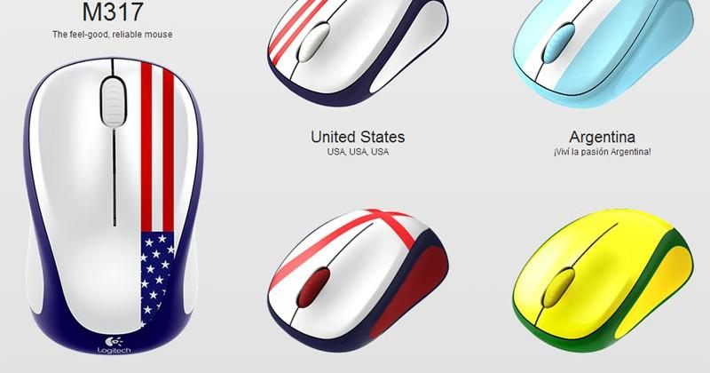 e01a7331999 Logitech Global Fan Collection M317 wireless mice debut clad in national  flags