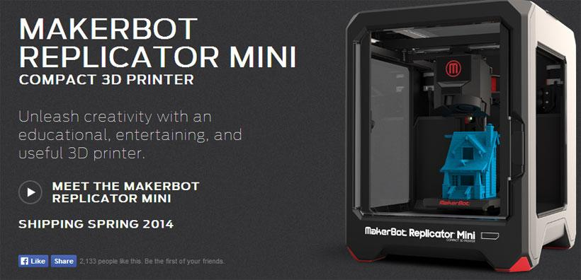 MakerBot Replicator Mini 3D desktop printer lands this spring