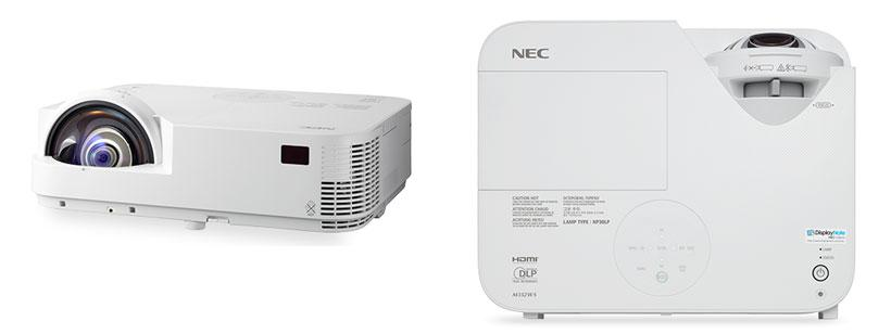 NEC launches M332XS and M352WS short throw projectors