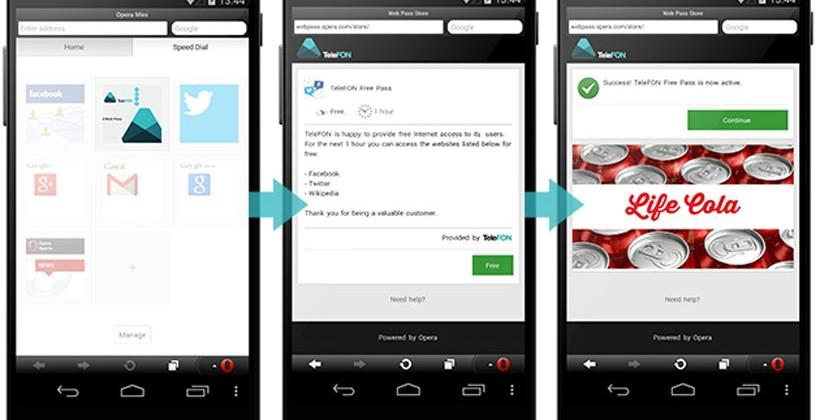 Opera unveils sponsored web pass for mobile internet access