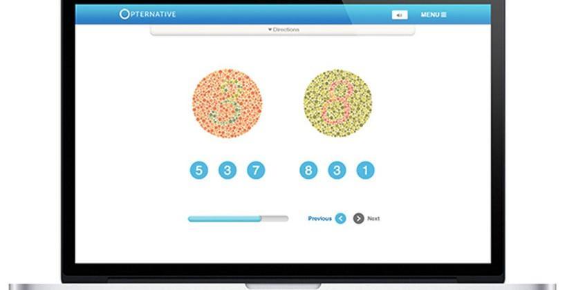 Opternative online eye exam provides a prescription for glasses remotely