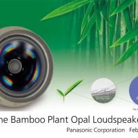 Panasonic Bamboo Plant Opal Loudspeaker has a diaphragm made from leaf derivatives