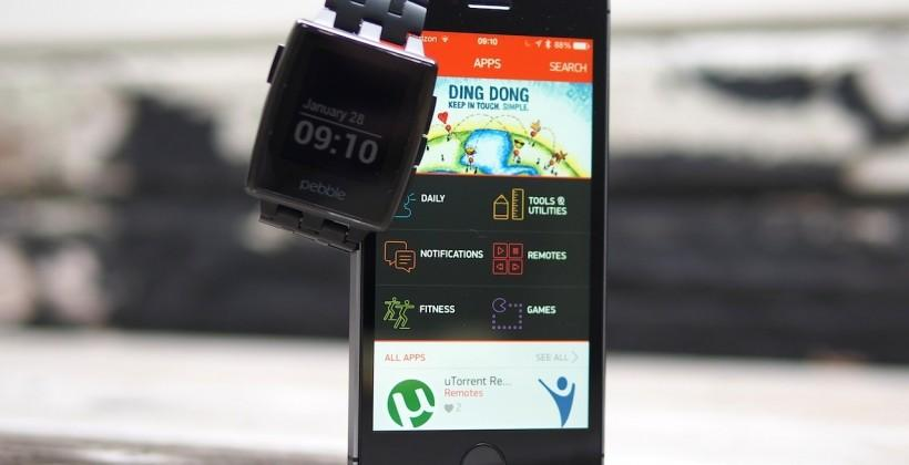 Pebble appstore for smartwatch goes live for iPhone users