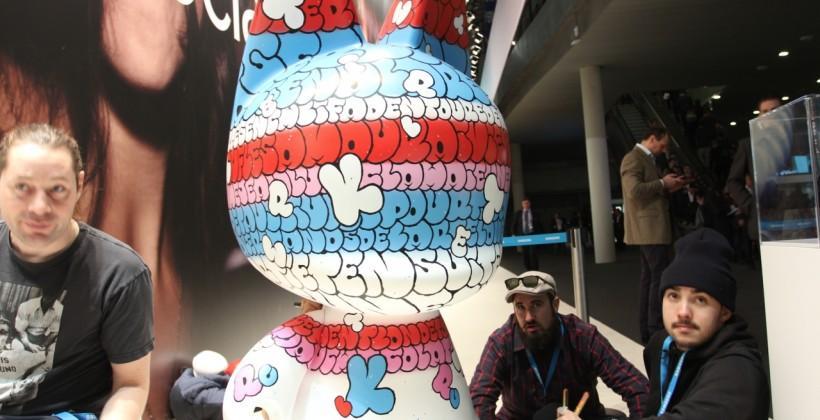 Samsung Kidrobot artist team appears at MWC 2014: Tilt, The London Police