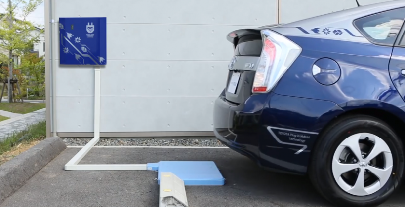 Toyota wireless EV charging demonstrated as trial kicks off