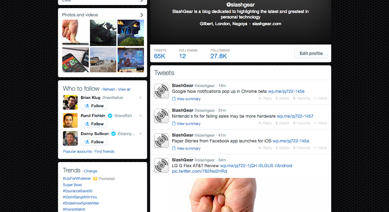 Twitter interface change today: reflecting mobile
