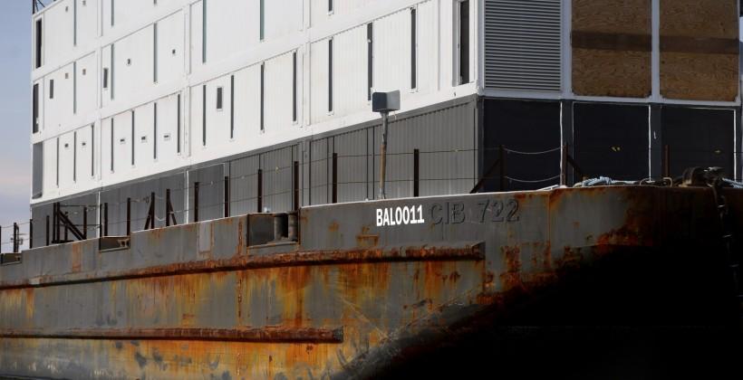 Google Barge now docks in Stockton, California