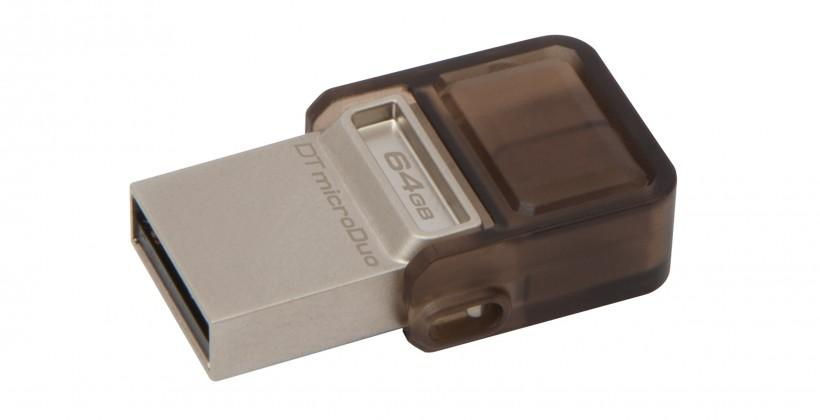 DataTraveler microDuo crams up to 64GB of storage into your microUSB port