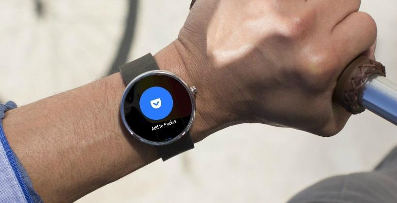 Android Wear details stack up: Pocket app gets round