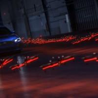 2015 Subaru WRX STI drives test-track made of drone helicopters